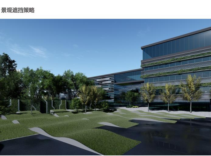 杭州智慧网谷整体城市规划设计方案文本2020-景观遮挡策略
