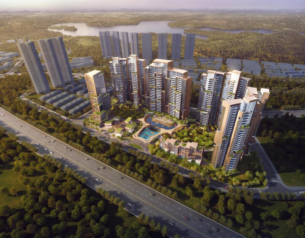[广东]深圳现代山水风住宅规划及建筑概念方