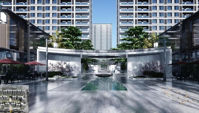 [浙江]端庄典雅+高层中央公园住宅建筑方案-效果图1