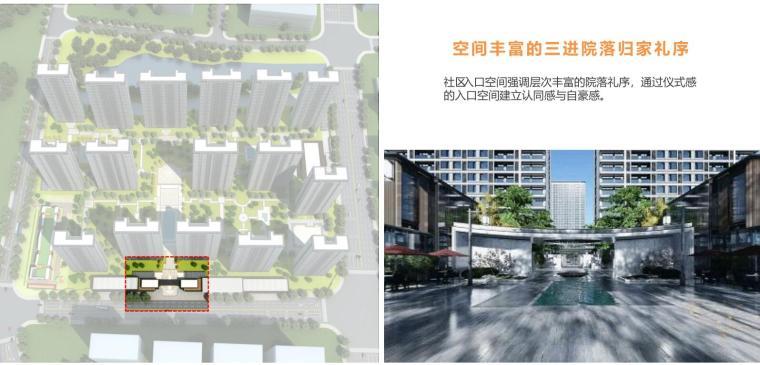[浙江]端庄典雅+高层中央公园住宅建筑方案-三进院落归家礼序
