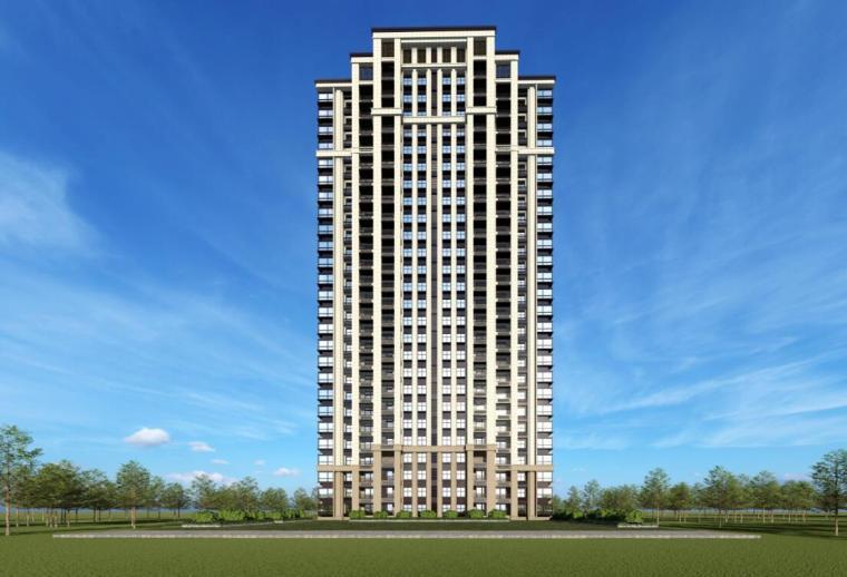 [江苏]南京新古典风高层住宅规划设计-大高层效果图