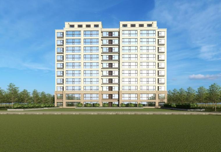 [江苏]南京新古典风高层住宅规划设计-小高层效果图