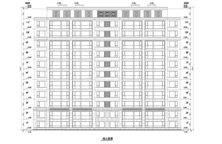 [江苏]南京新古典风高层住宅规划设计-6#楼立面图