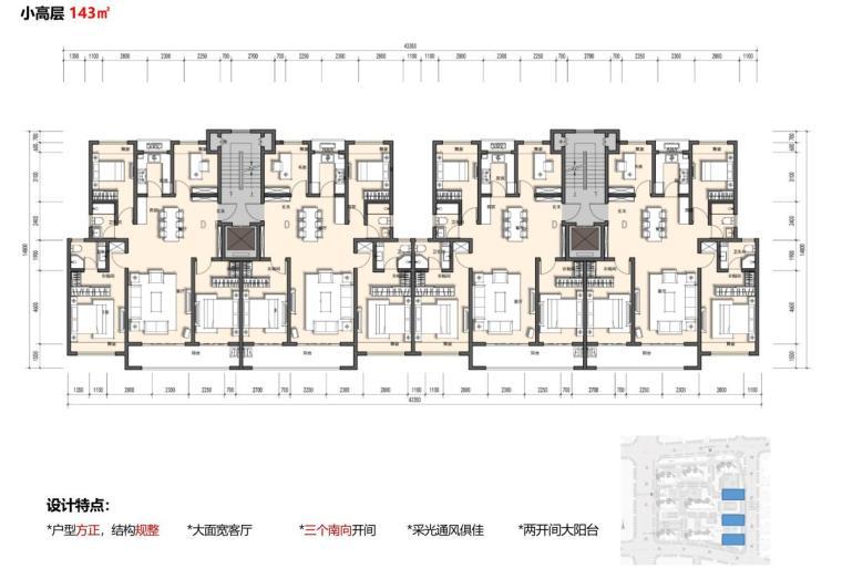 [江苏]南京新古典风高层住宅规划设计-平面专篇——户型