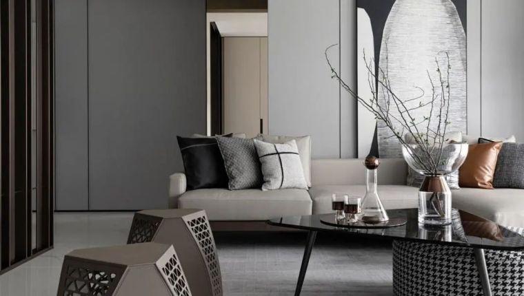 金属、大理石、皮革,精致自然的高品质空间_2
