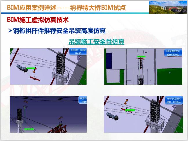 BIM应用发展规划与案例详述(101页)-吊装施工安全仿真性