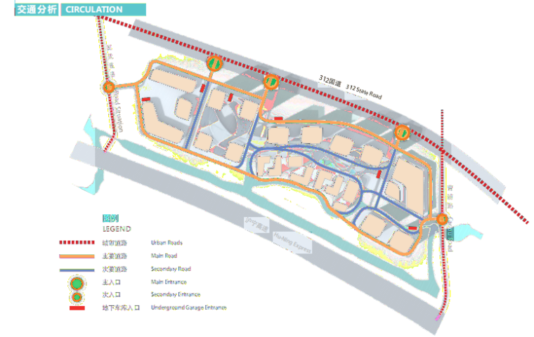 江苏互联科技生态多功能产业园设计-交通分析