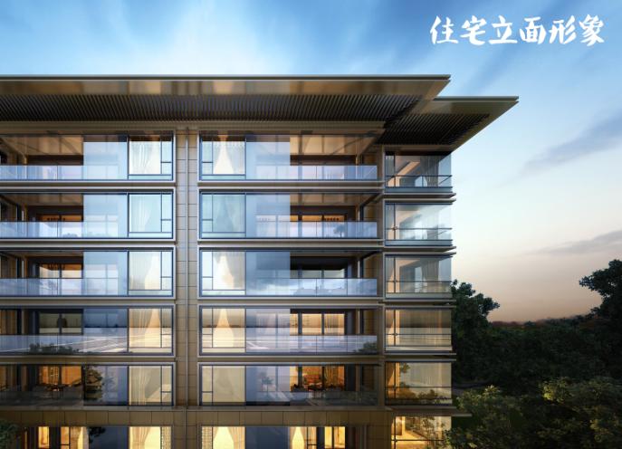 知名地产新中式滨水商业街社区概念方案2019-住宅立面形象