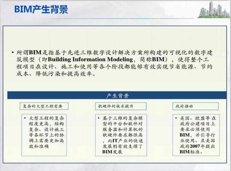 BIM方案案例应用知识讲座(118页)-BIM产生背景