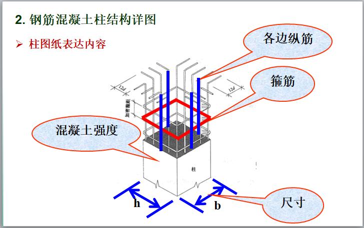 钢筋混凝土结构施工图识读讲义(100页)-柱图纸表达内容