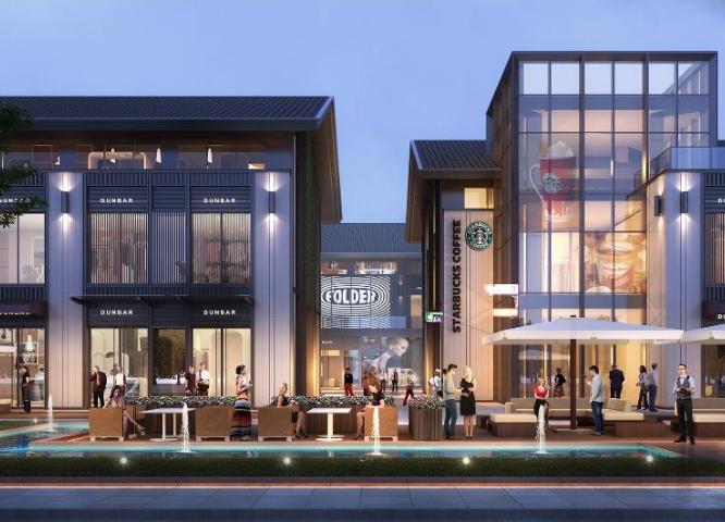 知名地产新中式滨水商业街社区概念方案2019-效果图3
