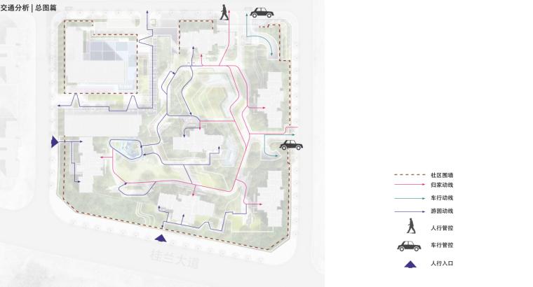 [重庆]现代奢雅山水住宅景观方案设计文本-交通分析