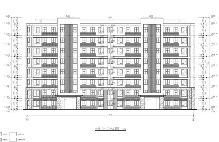 新城杭州商品住宅配套公建报建方案文本2019-1#楼立面图