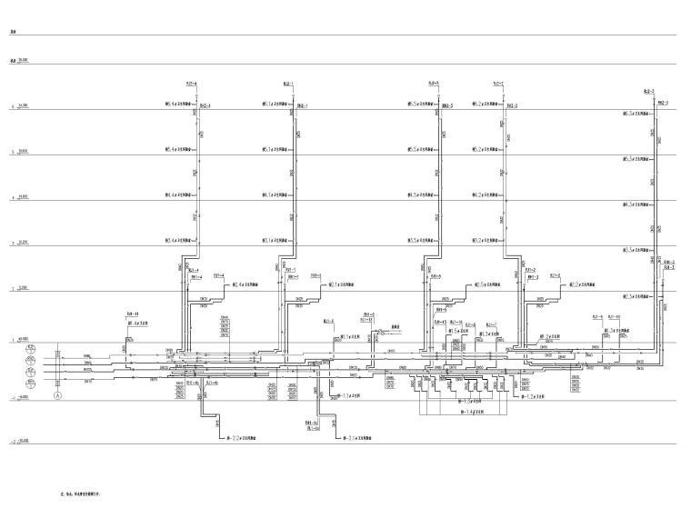 [北京]六层办公楼给排水消防系统设计施工图-热水系统原理图