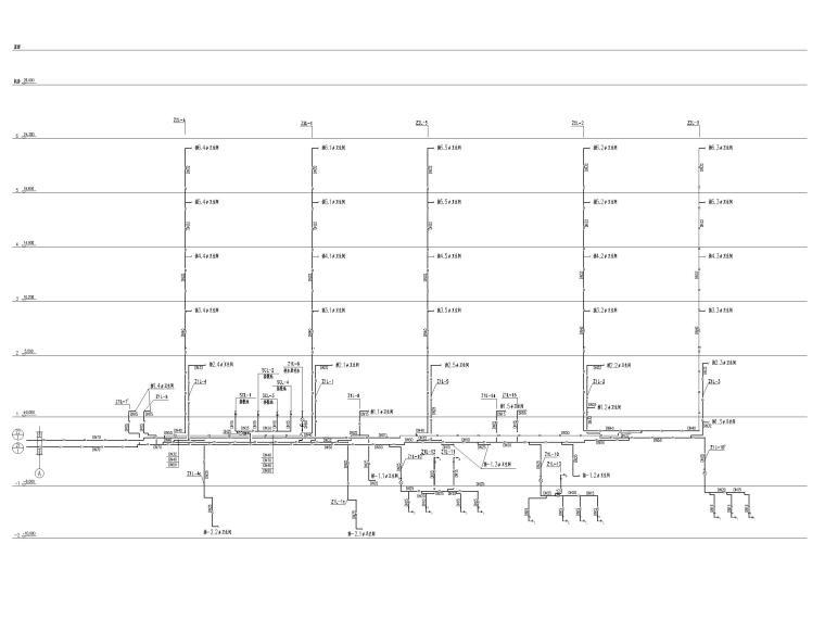 [北京]六层办公楼给排水消防系统设计施工图-中水系统原理图