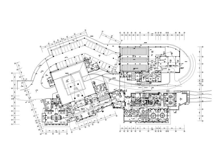 [四川]九寨沟景区著名五星级酒店电气施工图-4弱电平面图