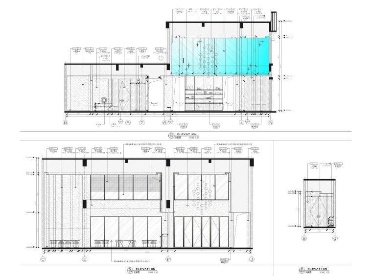 [广西]南宁万枫酒店室内装修设计施工图-公区立面图