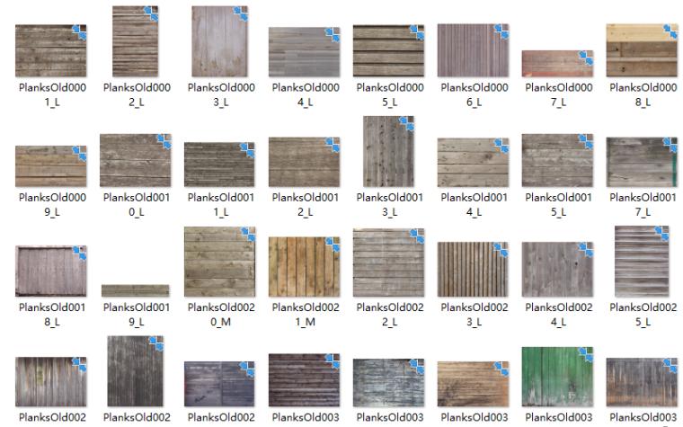 景观软景铺装小品材质贴图220张-木纹贴图