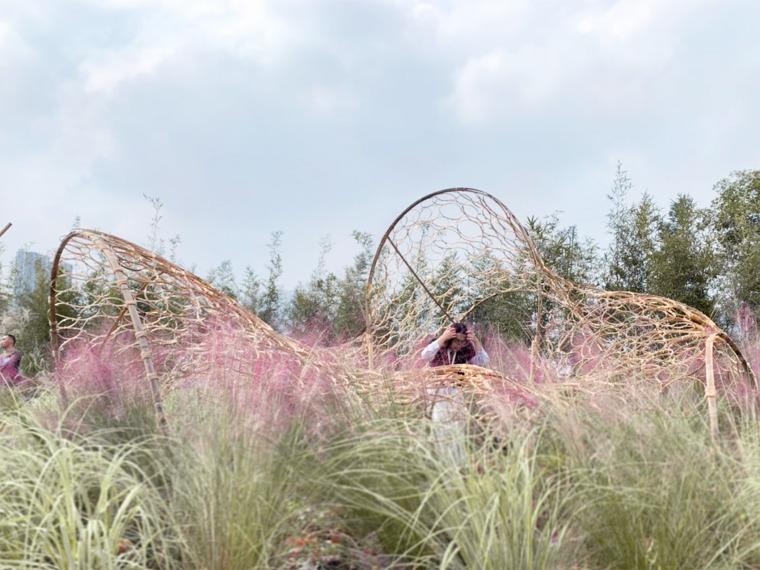 成都第三届北林国际花园建造节竹构装置实景图31