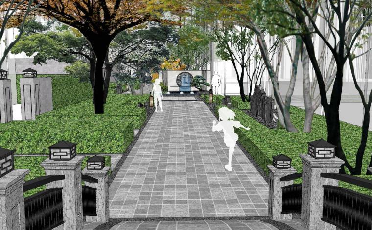 [福建]晋江新中式嘉天下原著大区景观模型-晋江新中式嘉天下原著大区景观模型设计 (4)