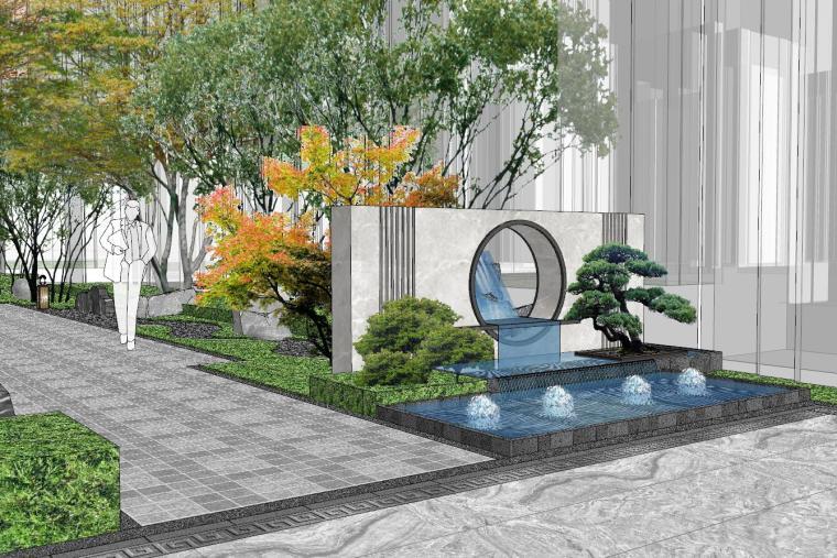 [福建]晋江新中式嘉天下原著大区景观模型-晋江新中式嘉天下原著大区景观模型设计 (6)