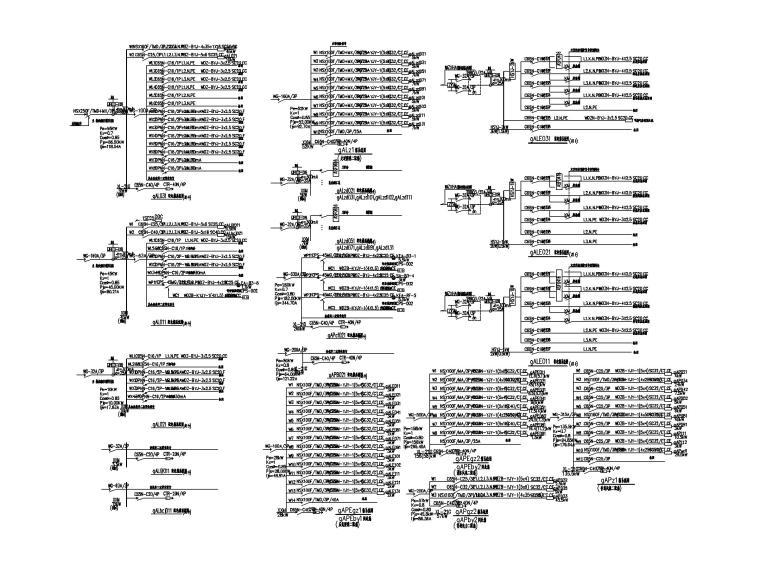 [四川]九寨沟景区著名五星级酒店电气施工图-5配电箱系统图