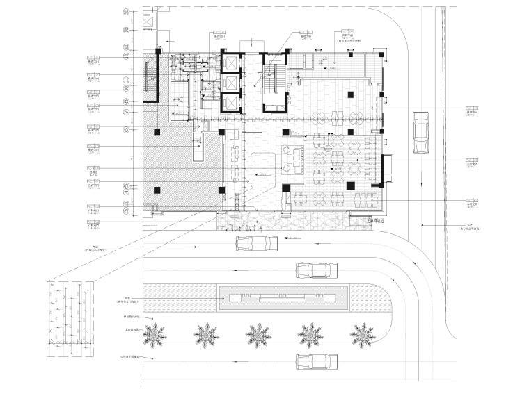 [广西]南宁万枫酒店室内装修设计施工图-一层公区地面铺装图