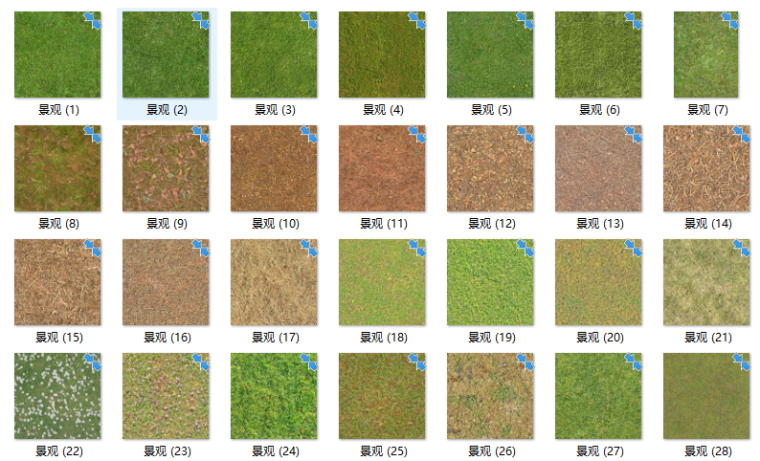 景观软景铺装小品材质贴图220张-草地贴图