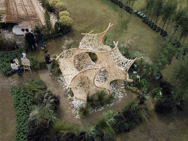 成都第三届北林国际花园建造节竹构装置实景图2