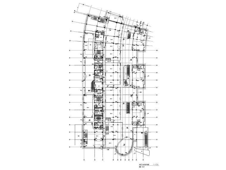 [上海]十七层商业综合体给排水施工图-首层III区消火栓平面图