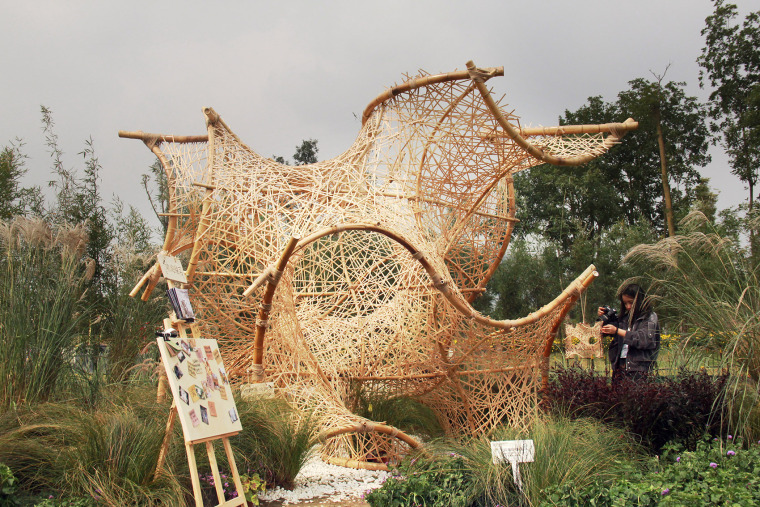 成都第三届北林国际花园建造节竹构装置实景图3