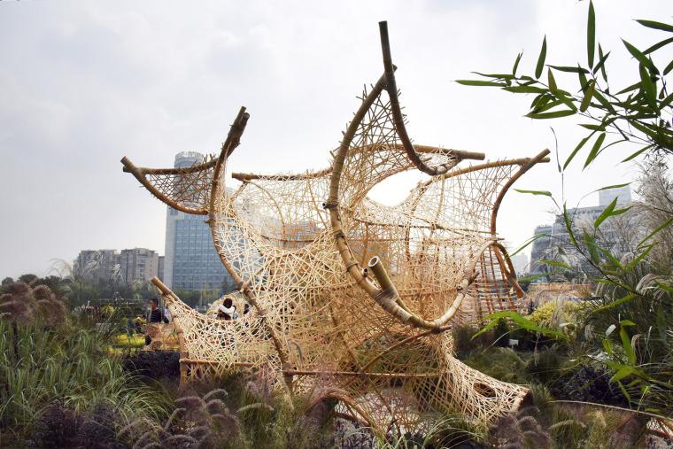 成都第三届北林国际花园建造节竹构装置实景图5