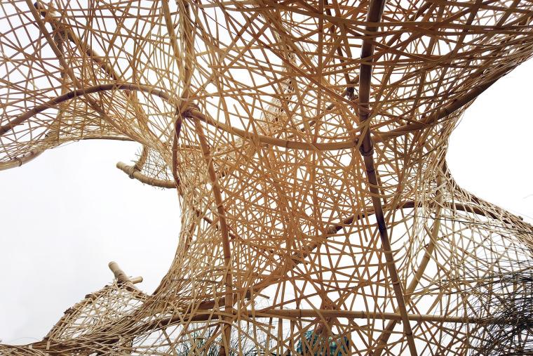 成都第三届北林国际花园建造节竹构装置实景图6