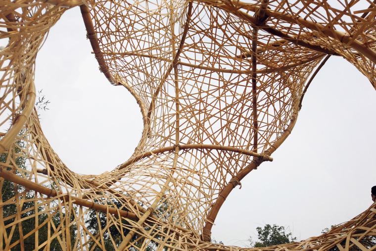 成都第三届北林国际花园建造节竹构装置实景图7