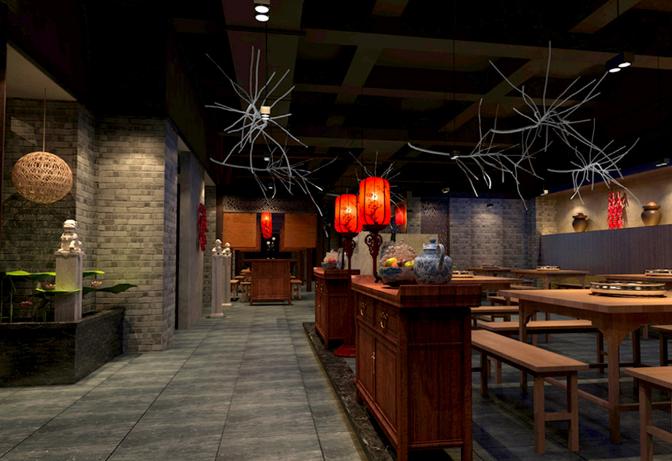 华溢装饰:珠海中式风格餐厅装修设计展现独_2