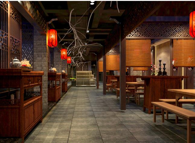 华溢装饰:珠海中式风格餐厅装修设计展现独_1