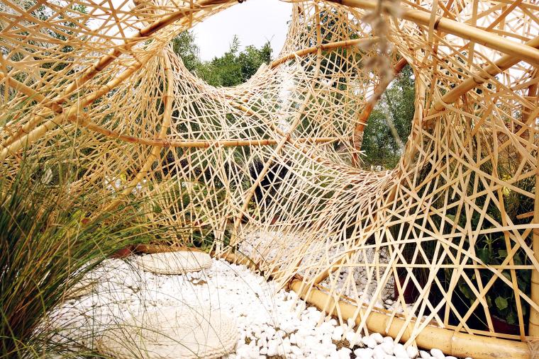 成都第三届北林国际花园建造节竹构装置实景图11