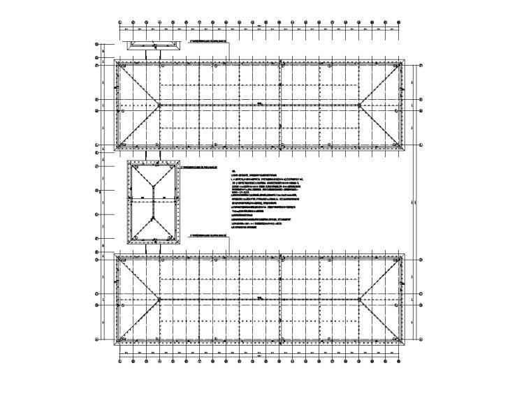 五层学生宿舍楼电气施工图-2防雷平面图