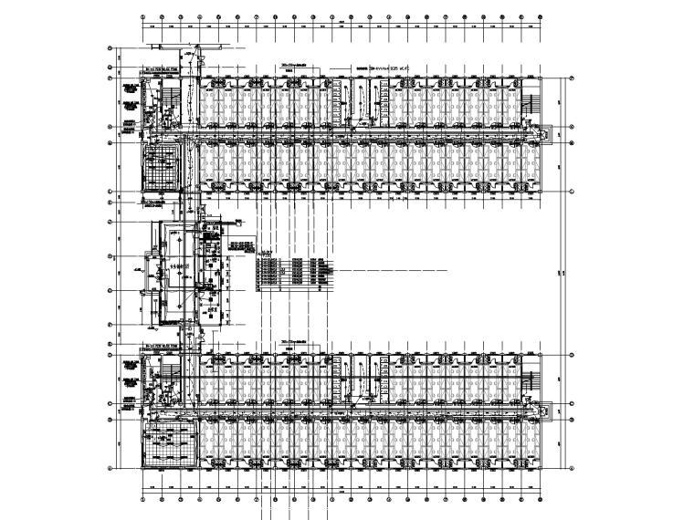 五层学生宿舍楼电气施工图-1照明平面图