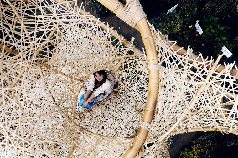 成都第三届北林国际花园建造节竹构装置实景图12