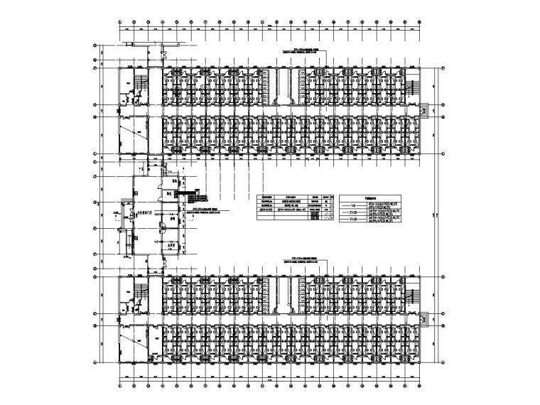 五层学生宿舍楼电气施工图-3弱电平面图