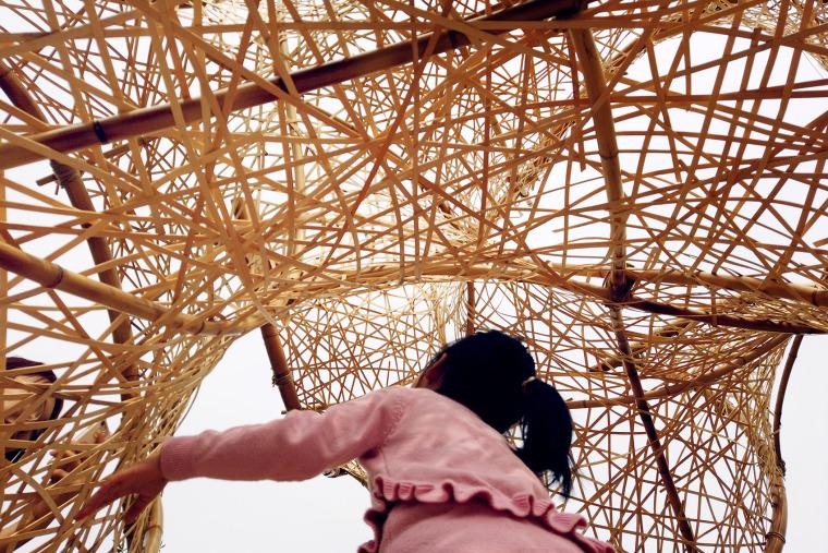 成都第三届北林国际花园建造节竹构装置实景图13