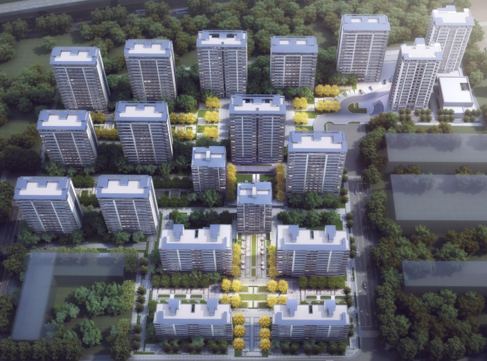 新城杭州商品住宅配套公建报建方案文本2019-鸟瞰图
