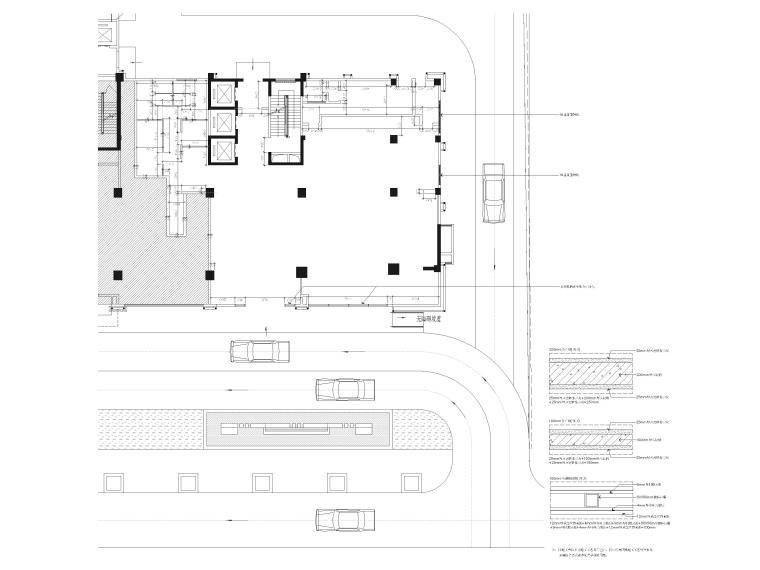 [广西]南宁万枫酒店室内装修设计施工图-一层公区间隔图