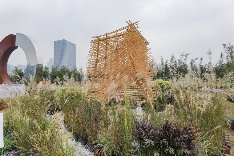 成都第三届北林国际花园建造节竹构装置实景图15