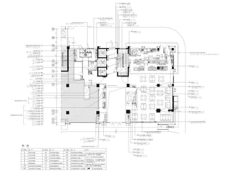 [广西]南宁万枫酒店室内装修设计施工图-一层公区机电点位图