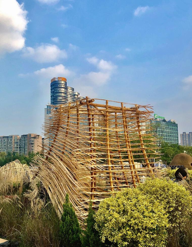 成都第三届北林国际花园建造节竹构装置实景图17