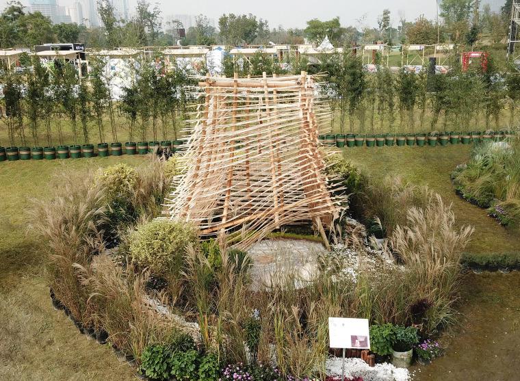 成都第三届北林国际花园建造节竹构装置实景图18