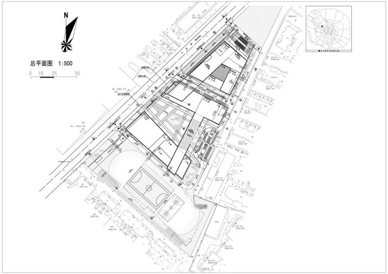 成都金牛区图书馆及外化成中学平面图