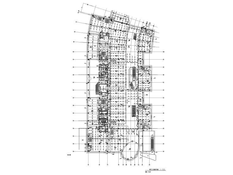 [上海]十七层商业综合体给排水施工图-首层III区喷淋平面图